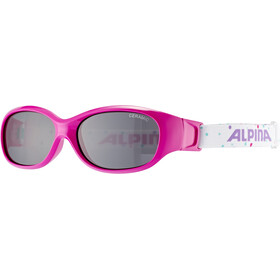 Alpina Sports Flexxy Bril Kinderen, pink-dots